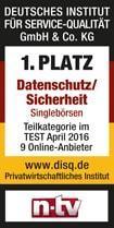 Ein Siegel vom deutschen Institut für Service-Qualität GmbH & Co.- KG für unseren Datenschutz und unsere Sicherheit
