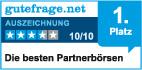 Siegel von gutefrage.net für den ersten Platz beim Singlebörsenvergleich