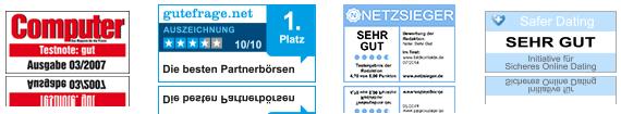 Bildkontakte ist Testsieger des Singlebörsenvergleichs Netzsieger.de!