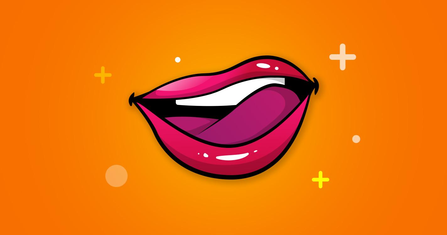 Ein Körpersprache-Signal: Sich über die Lippen lecken